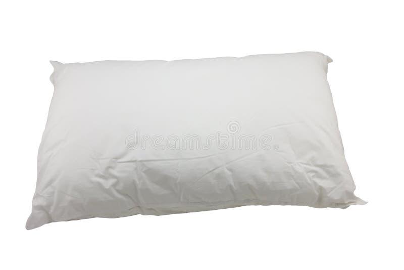 Almohada blanca en el fondo blanco foto de archivo