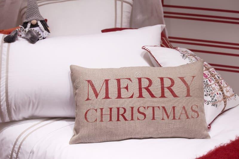 Almohadas de la Navidad fotografía de archivo