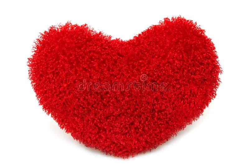 Almohadilla roja suave del corazón foto de archivo libre de regalías