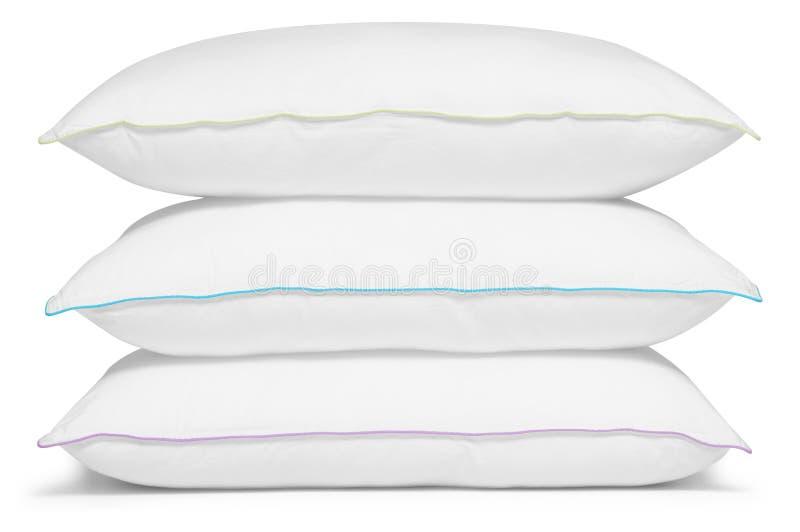 Almohadillas blancas. Aislado imágenes de archivo libres de regalías