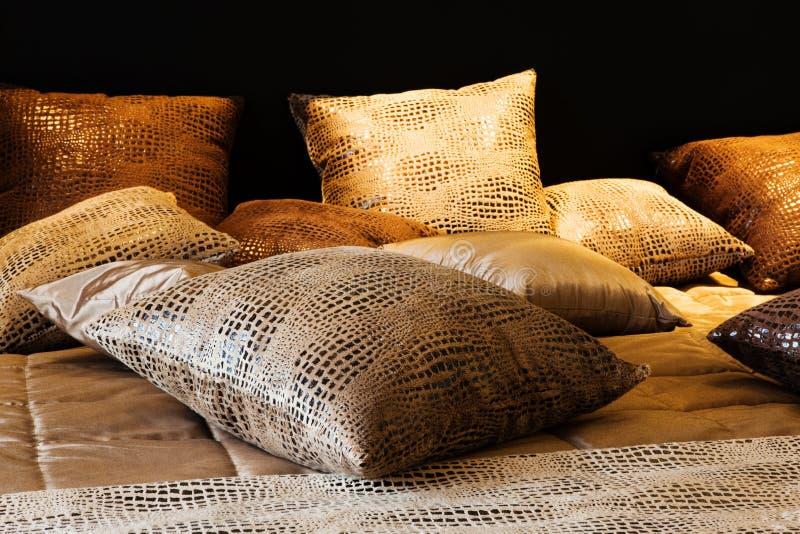 Almohadillas de cuero imagen de archivo
