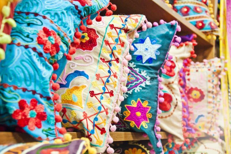 Almohadillas turcas tradicionales imagen de archivo libre de regalías