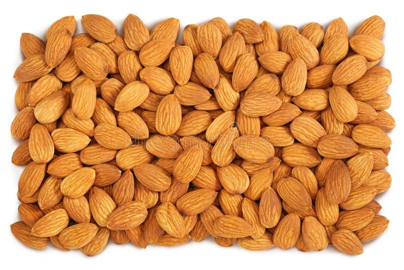 Almond background stock image