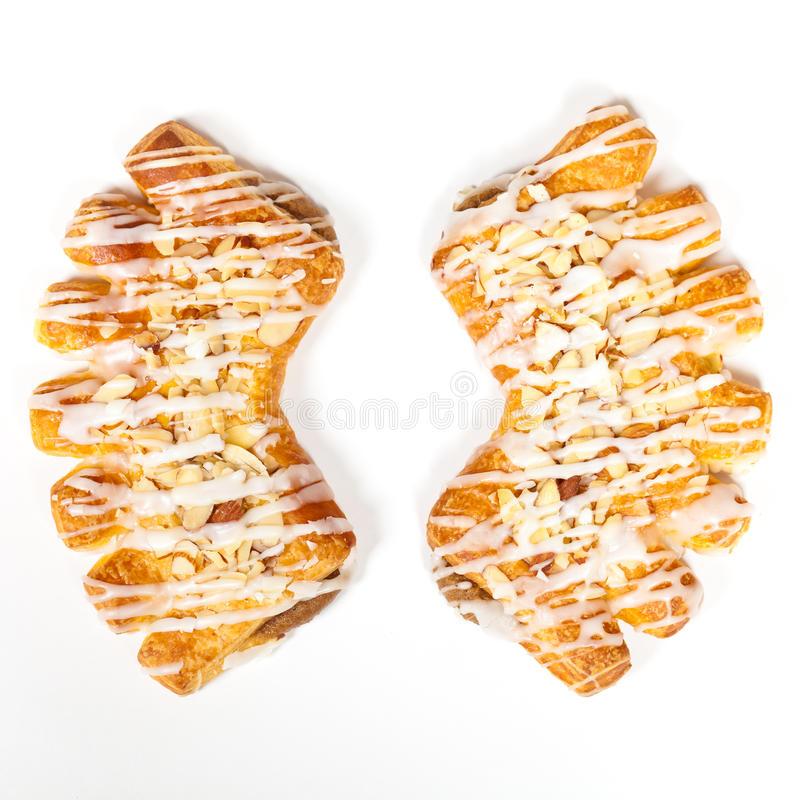 Almond Bear Claws Pastry stock photos