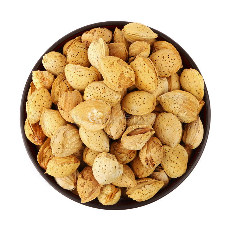 Download Almond in the bowl stock image. Image of bowl, food, object - 29801259