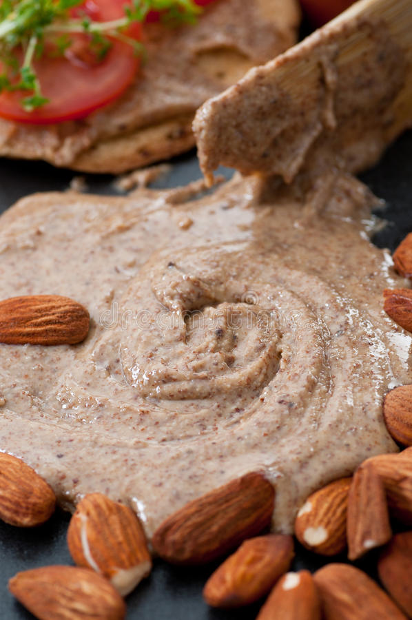 Almond Butter stock photo