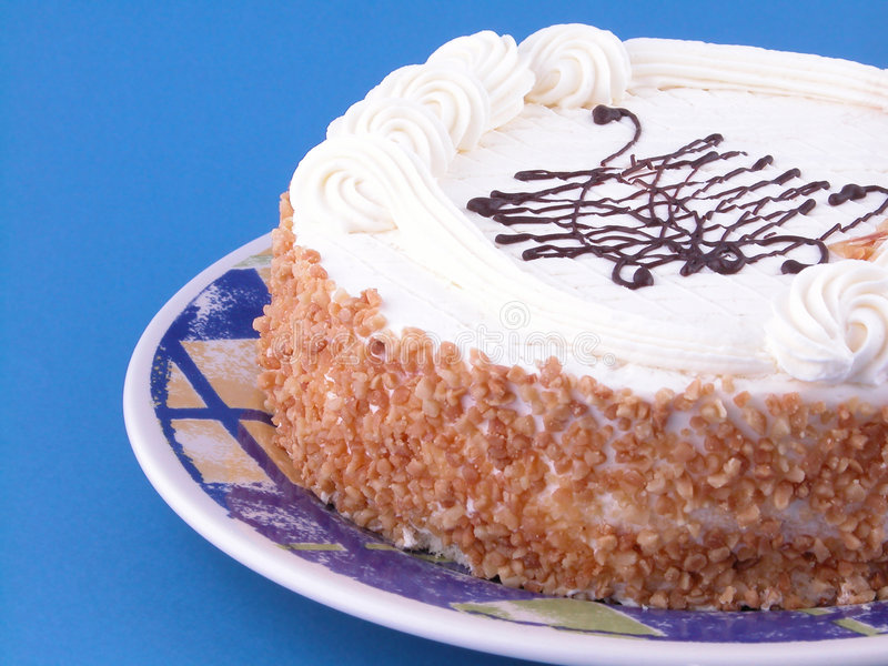 Almond cake royalty free stock photo