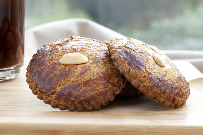 Almond Cookie royalty free stock images
