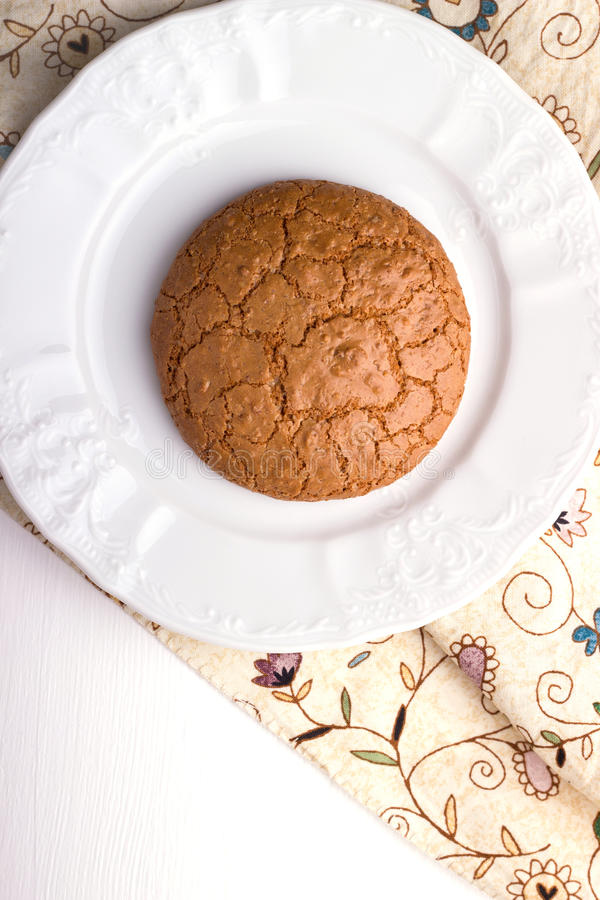 Download Almond cookie on a plate stock photo. Image of snack - 39510844