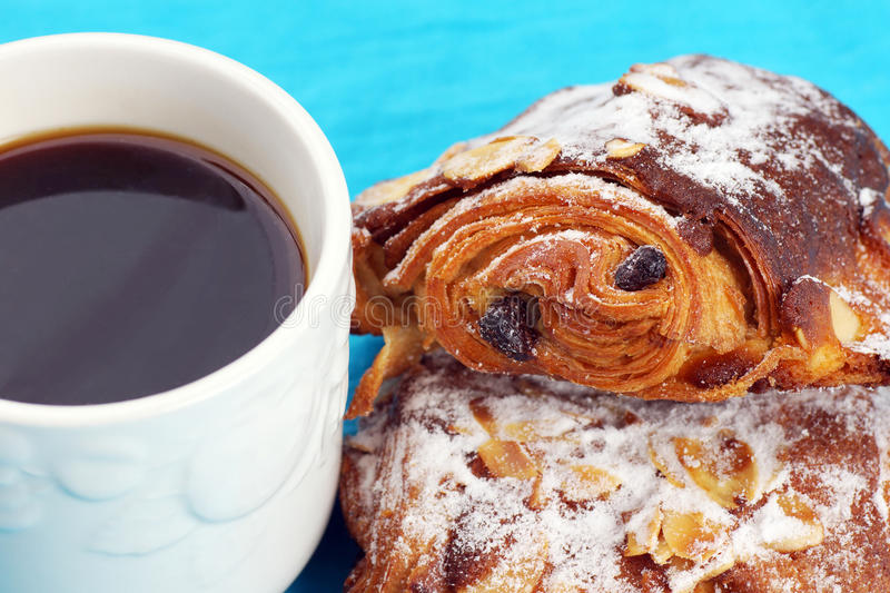 Download Almond Croissants And Coffee Royalty Free Stock Photos - Image: 33147668
