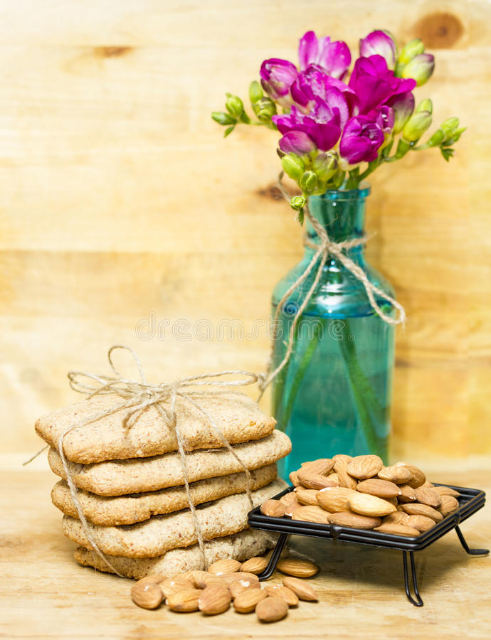 Almond flour biscuits royalty free stock photos