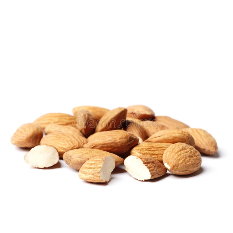 Almond isolated on white background royalty free stock photo