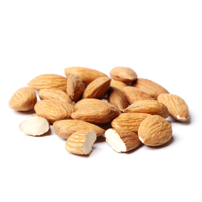 Almond isolated on white background stock image