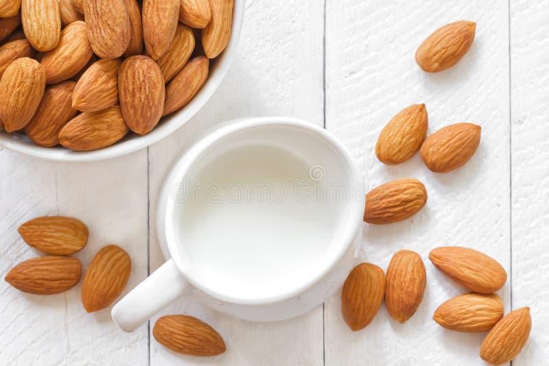 Almond milk stock photos