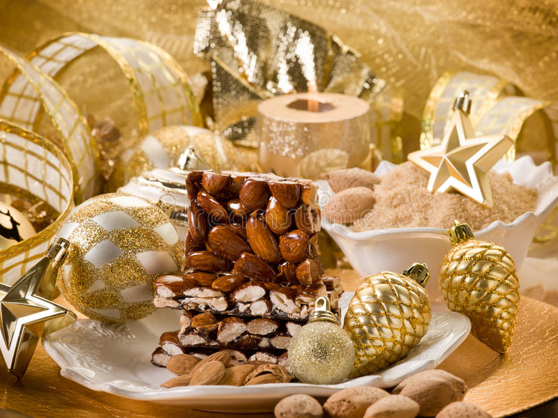Download Almond nougat brittle stock image. Image of freshness - 22544377