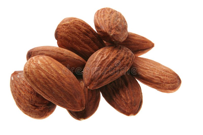Almond nut stock photo