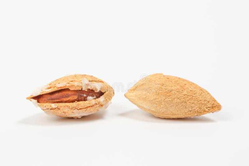 Almond nut in shell stock photos