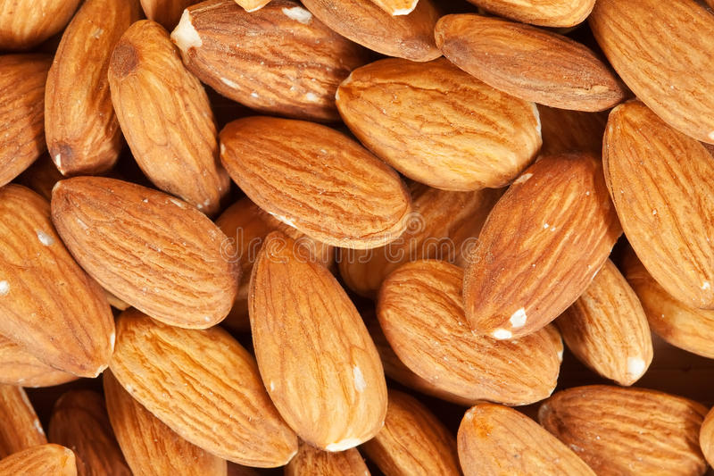 Almond Nuts  Background Stock Photo