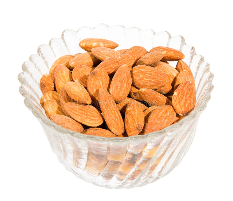 Almond nuts isolated stock image