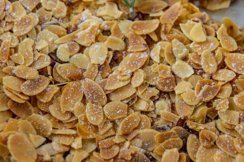 Almond pid dessert sweetmeal , sweet nut stock photos