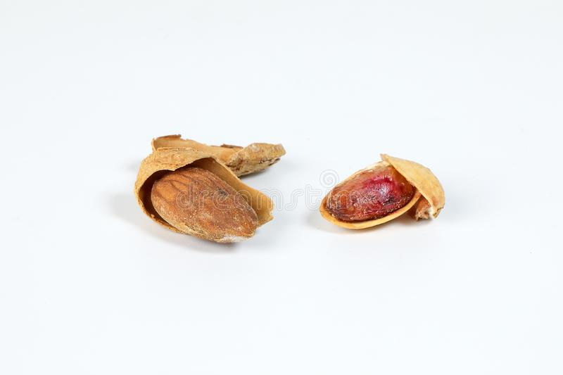 Almond pistachio nut shell royalty free stock image