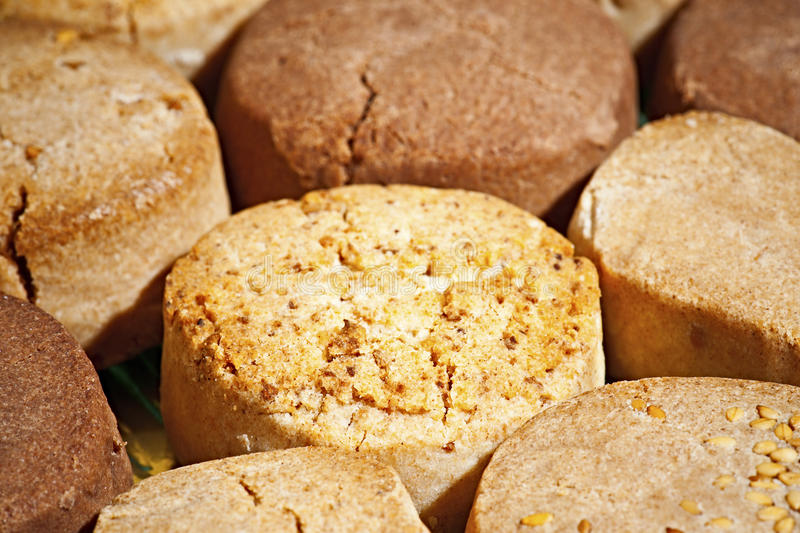 Almond shortbread royalty free stock images