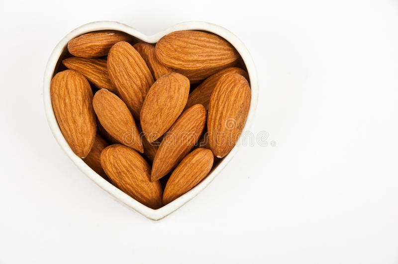 Download Almonds stock photo. Image of heart, close, hulled, delicious - 20171988