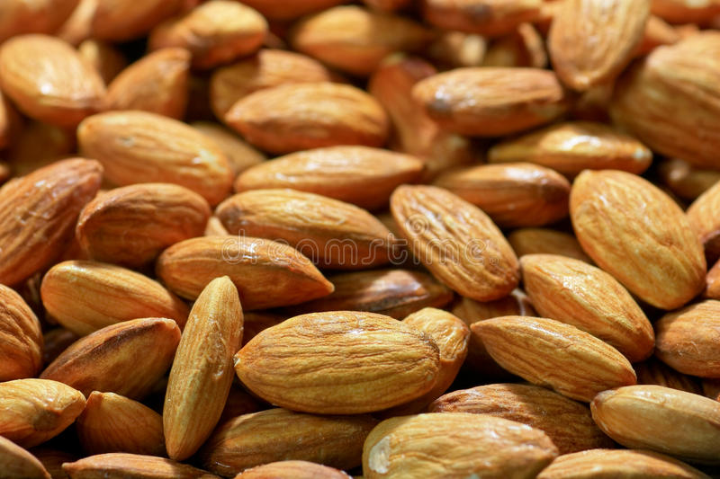 Download Almonds background stock image. Image of beige, appetizer - 24599131