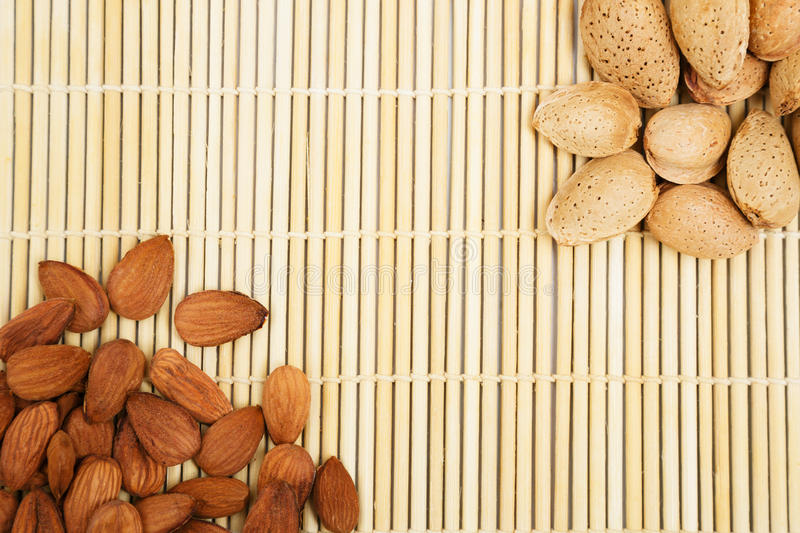 Download Almonds In A Background Tablecloth, Snacks Of Nuts Stock Image - Image of nature, hard: 27255807