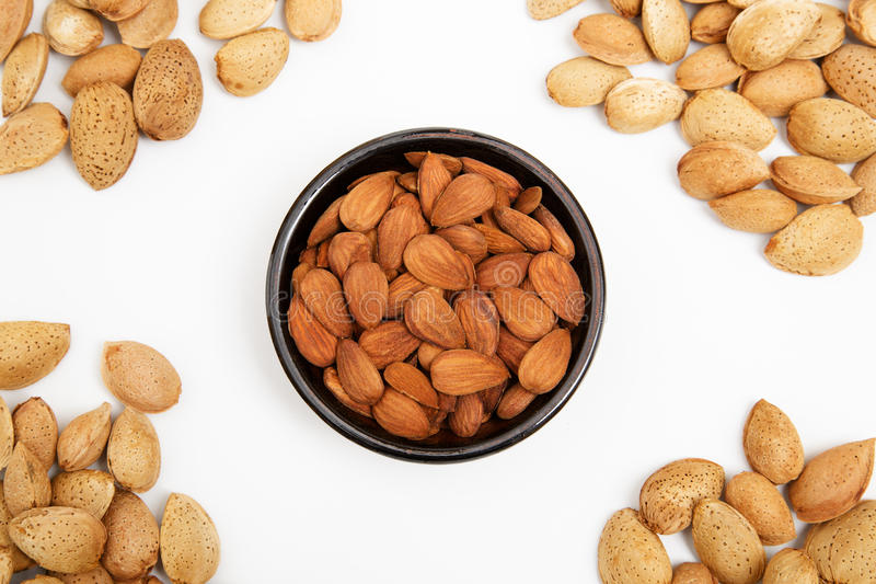 Download Almonds In A Bowl, Snacks Of Nuts Stock Photo - Image: 27255794