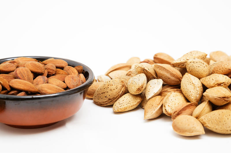 Download Almonds In A Bowl, Snacks Of Nuts Stock Photo - Image: 27255828