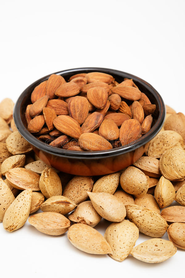 Download Almonds In A Bowl, Snacks Of Nuts Stock Image - Image: 27255875