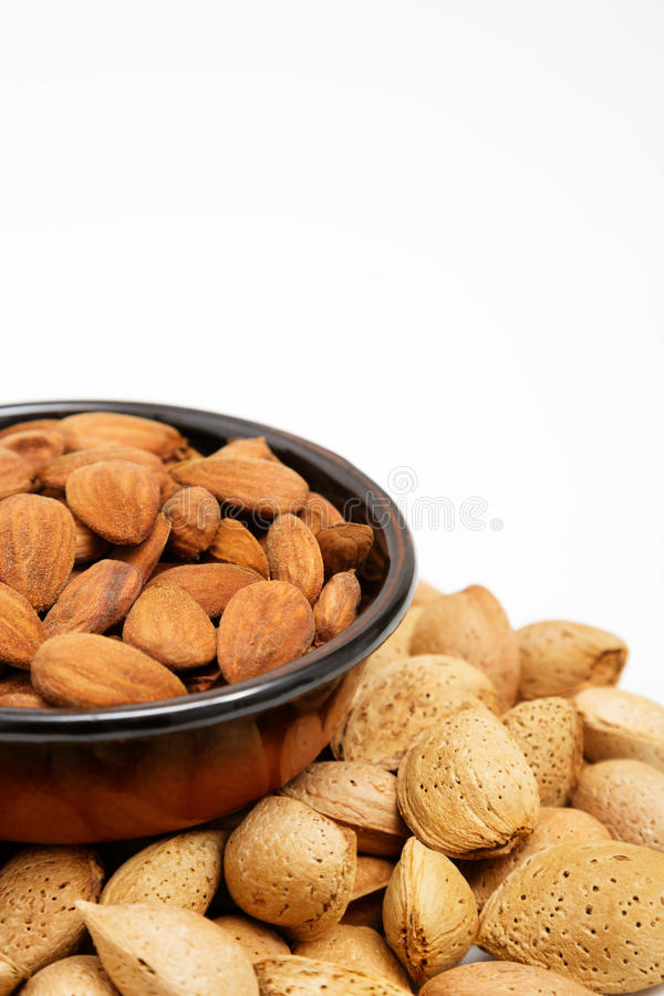 Download Almonds In A Bowl, Snacks Of Nuts Stock Image - Image of macro, kernel: 27255917