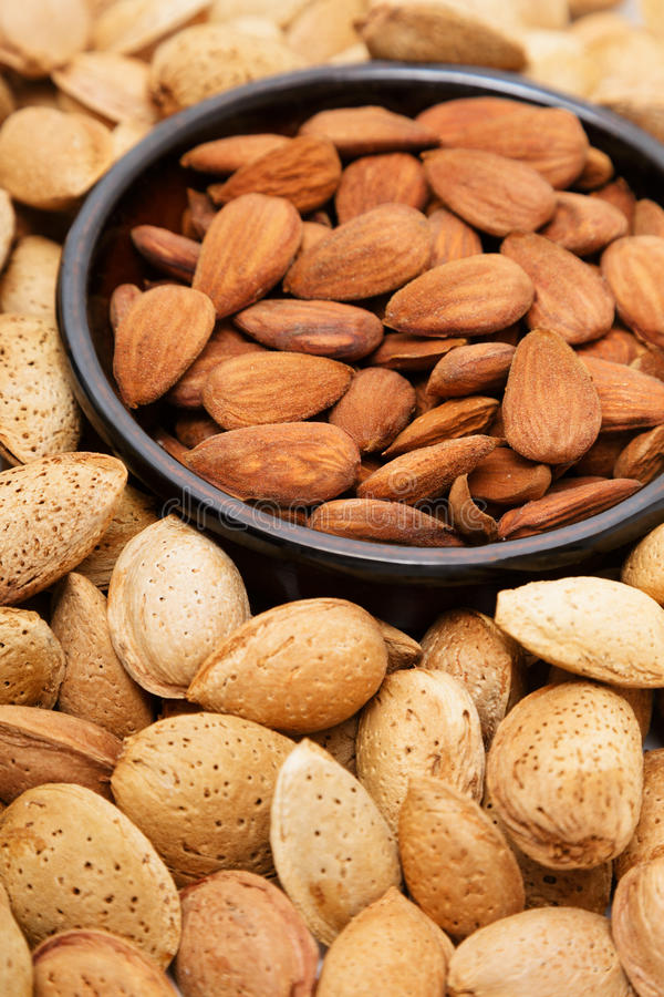Download Almonds In A Bowl, Snacks Of Nuts Stock Photo - Image: 27255992