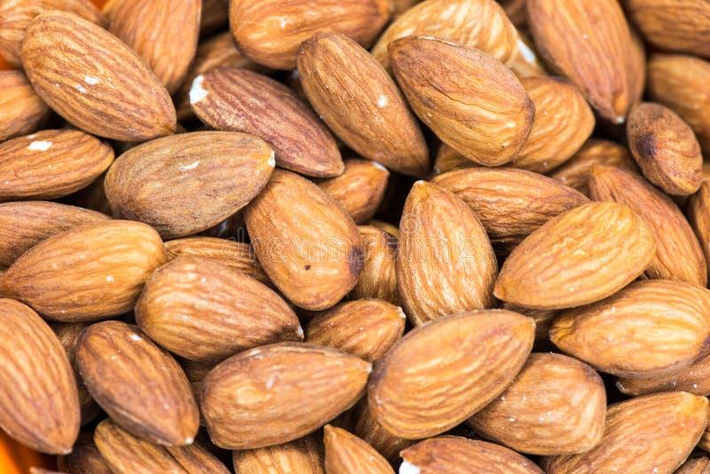 Almonds closeup macro photo royalty free stock images