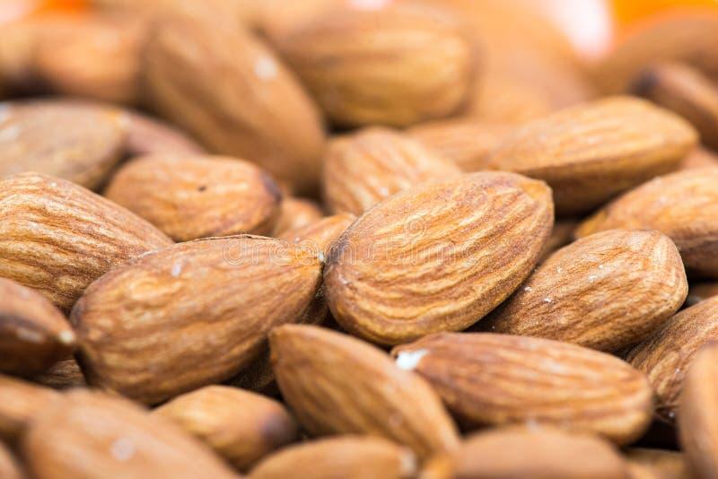 Almonds closeup macro photo royalty free stock photography