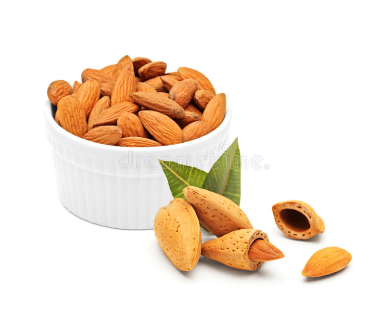 Almonds concept royalty free stock images