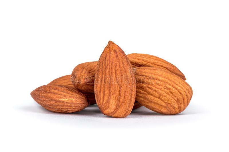 Almonds in heap over royalty free stock images