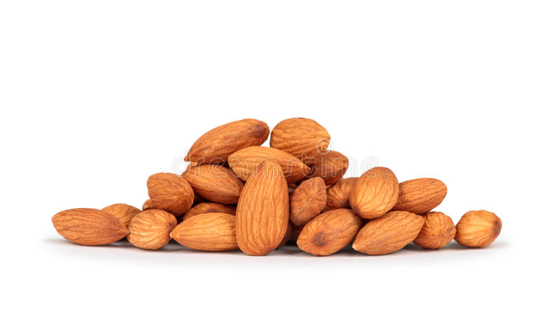 Almonds in heap royalty free stock photo