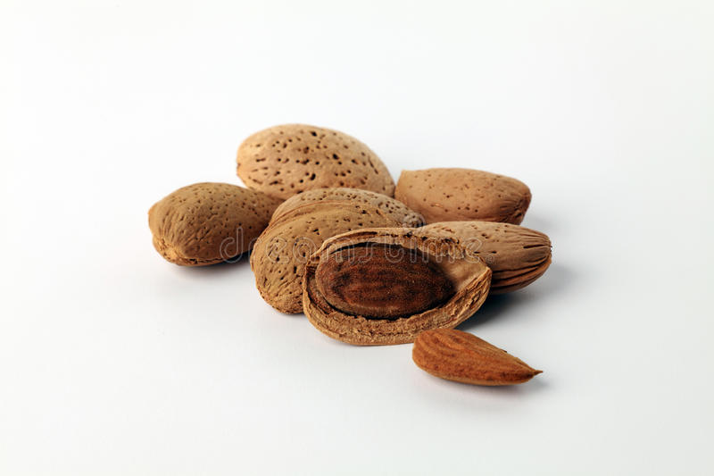 Download Almonds Isolated On White Background. Royalty Free Stock Photo - Image: 22145865