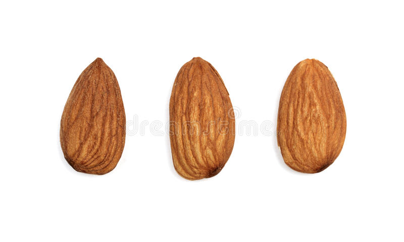 Download Almonds Isolated On White Background Stock Photo - Image: 26302172