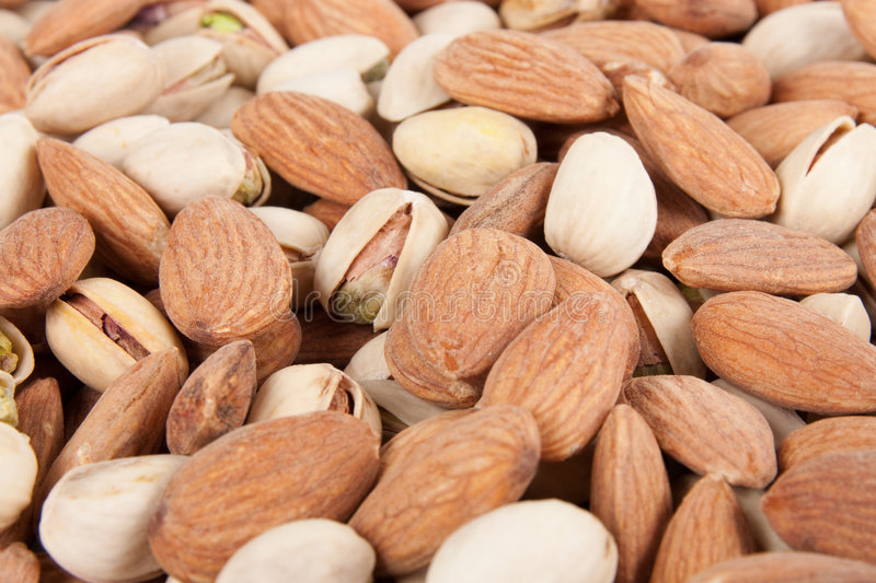 Download Almonds And Pistachios Background 5 Stock Image - Image: 9091755