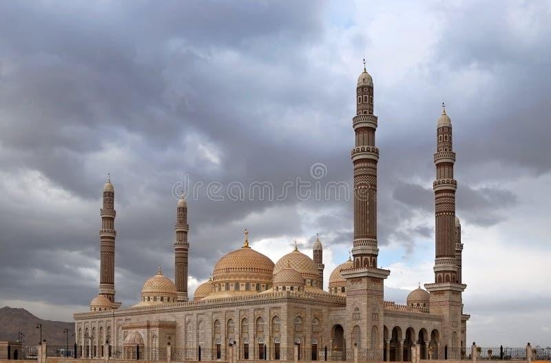 almoskésaleh sanaa yemen royaltyfri fotografi