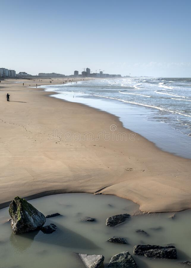 Free Almost Empty Beaches Of Ostend Royalty Free Stock Photo - 184311035