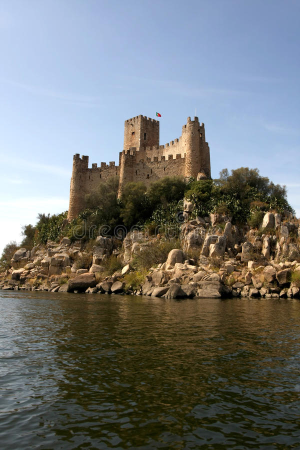 almourol城堡葡萄牙 图库摄影