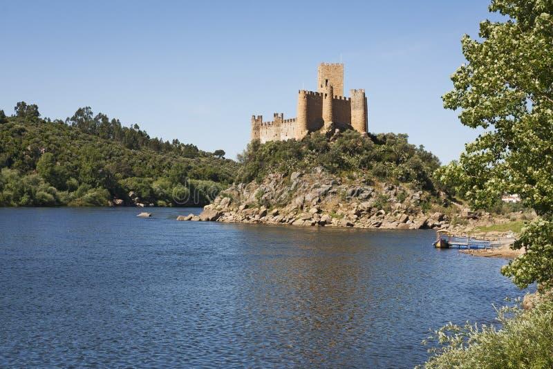 Almourol城堡 库存照片