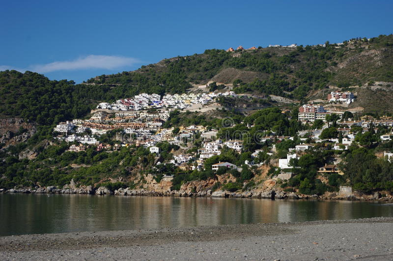 Almuñecar, Granada, Spain. Almuñécar is a municipality in the Spanish Autonomous Region of Andalusia on the Costa Tropical between Nerja and Motril. It royalty free stock image