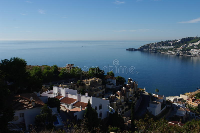 Almuñecar, Granada, Spain. Almuñécar is a municipality in the Spanish Autonomous Region of Andalusia on the Costa Tropical between Nerja and Motril. It royalty free stock photo