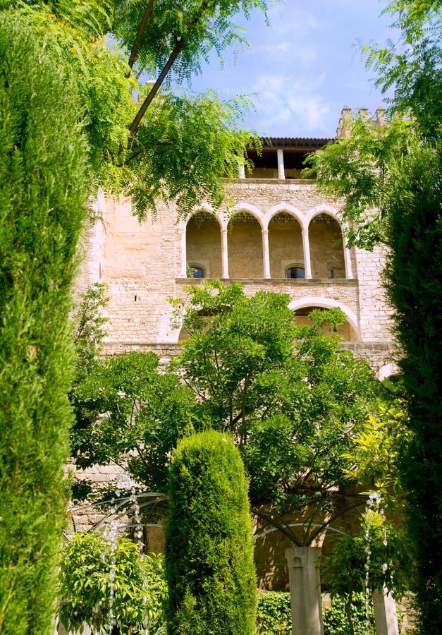 Almudaina castle in Palma de Majorca royalty free stock image