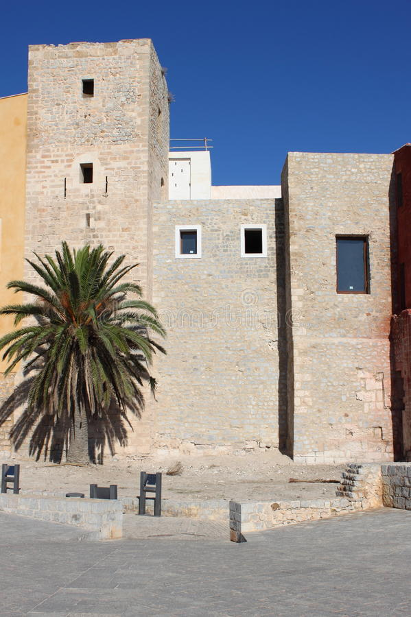 Almudaina Palace in Ibiza Town royalty free stock images